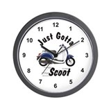 Just Gotta Scoot Metro Wall Clock
