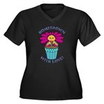 Homegrown with Love Women's Plus Size V-Neck Dark