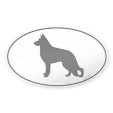 German Shepherd Dog Oval Sticker (50 pk)