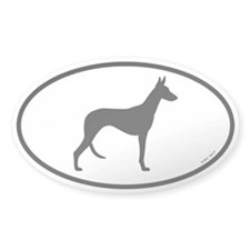 Ibizan Hound Oval Sticker (50 pk)