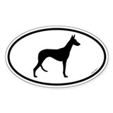 Ibizan Hound Oval Sticker (10 pk)