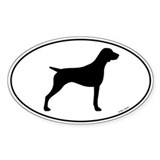 German Shorthaired Pointer Oval Sticker (50 pk)