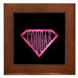 SuperCougar(pnk/blk) Framed Tile