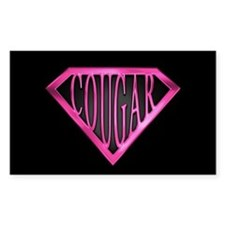 SuperCougar(pnk/blk) Rectangle Decal