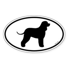 Irish Water Spaniel Oval Sticker (50 pk)