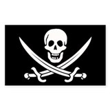 Pirate flag Bumper Stickers