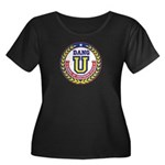 Dang U Women's Plus Size Scoop Neck Dark T-Shirt