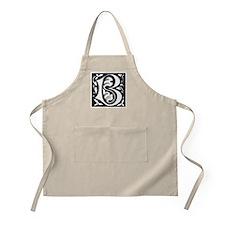 Art Nouveau Initial B BBQ Apron