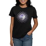 Purple Starburst Yin Yang Women's Dark T-Shirt