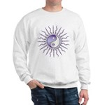 Purple Starburst Yin Yang Sweatshirt