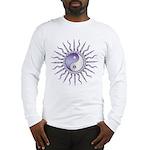 Purple Starburst Yin Yang Long Sleeve T-Shirt