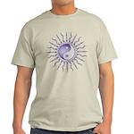 Purple Starburst Yin Yang Light T-Shirt