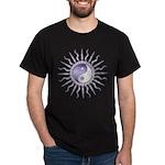 Purple Starburst Yin Yang Dark T-Shirt