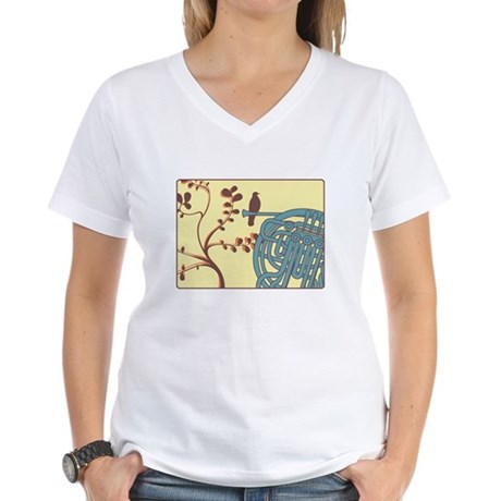Vintage Horn Women's V-Neck T-Shirt
