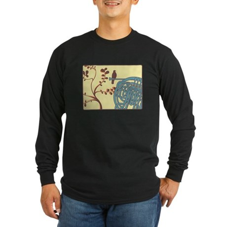 Vintage Horn Long Sleeve Dark T-Shirt