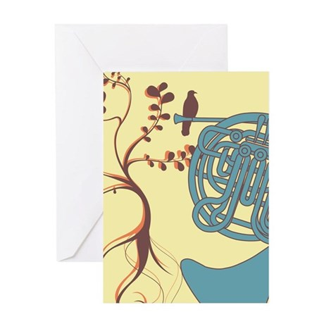 Vintage Horn Greeting Card