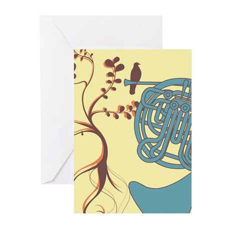 Vintage Horn Greeting Cards (Pk of 10)