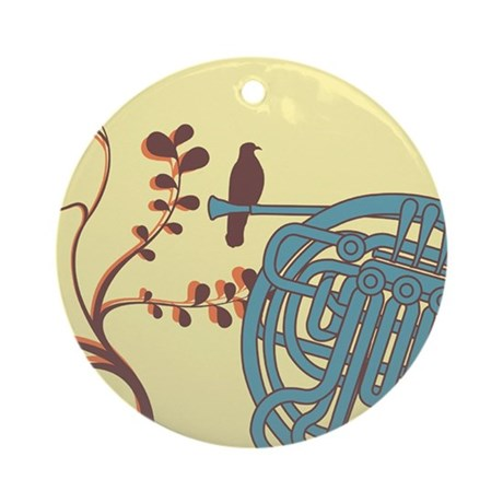 Vintage Horn Ornament (Round)