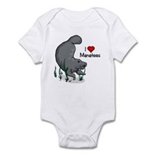 I Love Manatees Infant Bodysuit