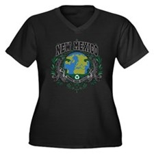 New Mexico Green Pride Women's Plus Size V-Neck Da