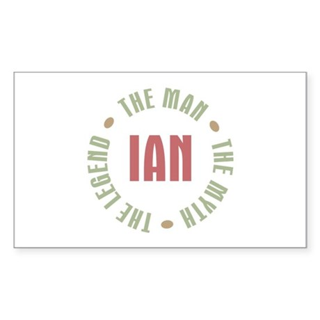Ian Man Myth Legend Rectangle Sticker