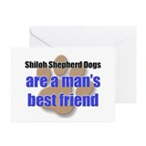 Shiloh Shepherd Dogs man's best friend Greeting Ca