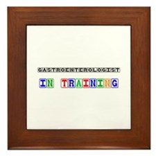 Gastroenterologist In Training Framed Tile