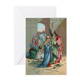 Jesus enters Jerusalem Greeting Card