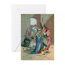 Jesus enters Jerusalem Greeting Cards (Pk of 20)