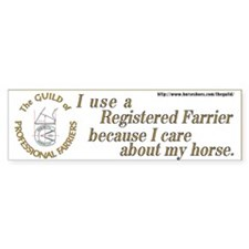 Guild bumper sticker for horseowners.