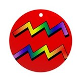 GLBT Aquarius r Keepsake (Round)
