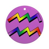 GLBT Aquarius p Keepsake (Round)