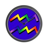 GLBT Aquarius b Wall Clock