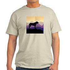 Purple Mountains Bullmastiff T-Shirt