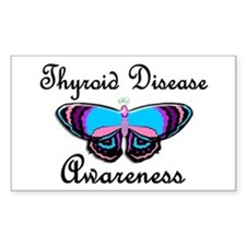 Butterfly Awareness 2 (Thyroid Disease) Bumper Stickers