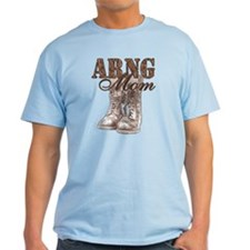 ARNG Mom Combat Boots N Dog Tags T-Shirt