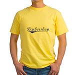 barbershop Yellow T-Shirt