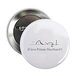 "I Love Pitman Shorthand 2.25"" Button (10 pack)"