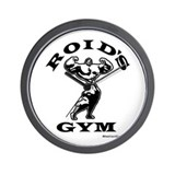 Roid's Gym Wall Clock