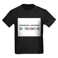 Financial Manager In Training Kids Dark T-Shirt
