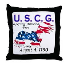 US Coast Guard Keeping Americ Throw Pillow