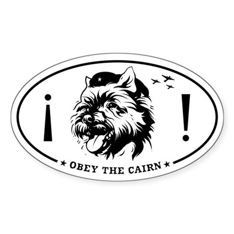 Obey the CAIRN! Oval Sticker