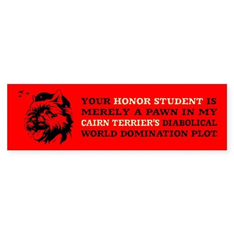 Cairn Terrier -Honor Student Bumper Sticker