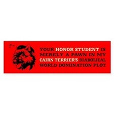Cairn Terrier -Honor Student Bumper Bumper Sticker