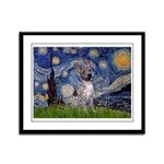 Starry-AmericanHairless T Framed Panel Print