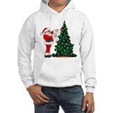 Cancer Awarenss ribbon Christmas Tree Jumper Hoody