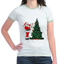 Cancer Awarenss ribbon Christmas Tree T