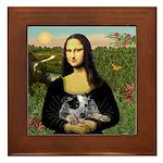 MonaLisa-AussieCattle Pup Framed Tile