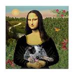 MonaLisa-AussieCattle Pup Tile Coaster