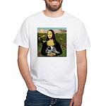 MonaLisa-AussieCattle Pup White T-Shirt